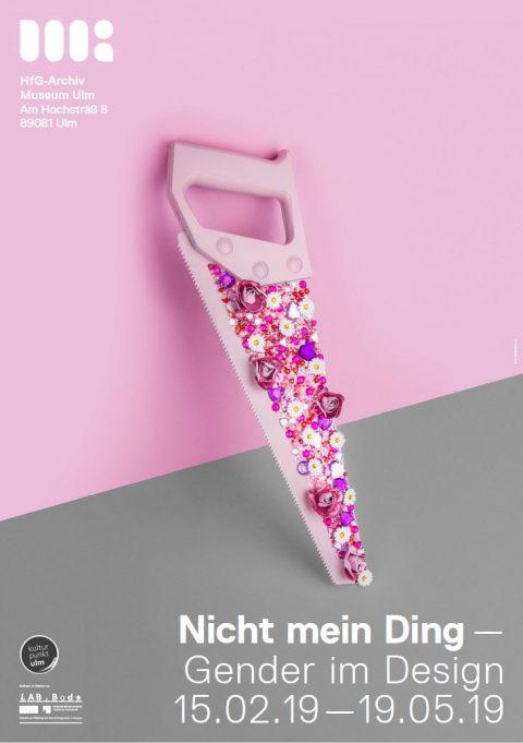 Nicht mein Ding_Plakat_pink. Entwurf: Fabian Karrer