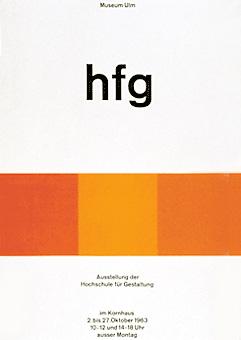 HfG Plakat, Herbert Lindinger 1963