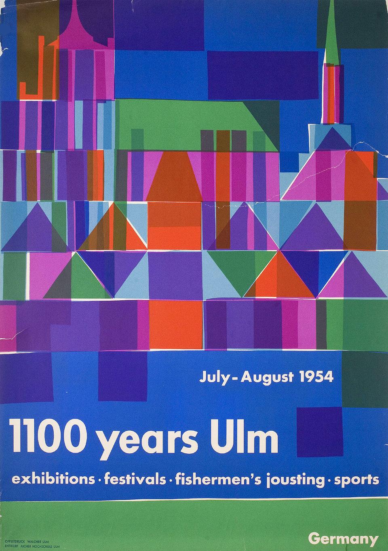 1100 Jahre Ulm Plakat