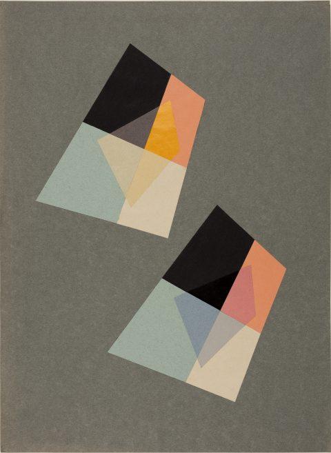 Transparenz, 1953, Studentin Ingela Albers, Grundlehre, Dozent Walter Peterhans