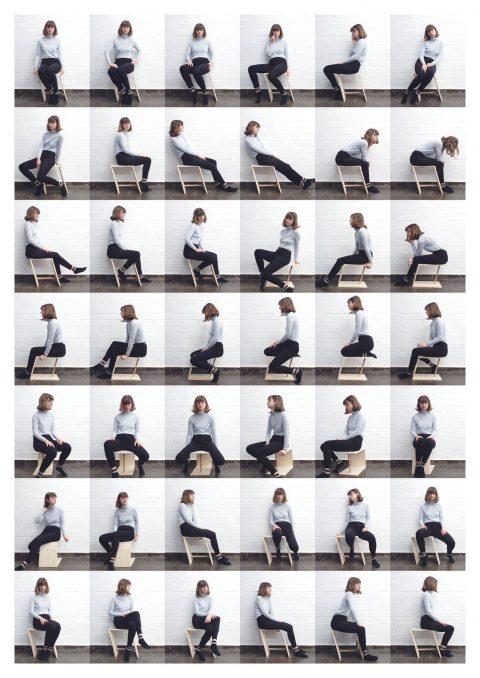 Sitzen auf Hockervariante 1 (2018) Olivia Daigneault Deschênes © HfG-Archiv / Museum Ulm, Sign. DiR-2018.29