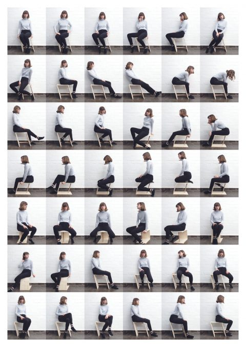 Sitting an Stool 1 (2018) Olivia Daigneault Deschênes © HfG-Archiv / Museum Ulm, Sign. DiR-2018.29