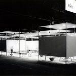 Ausstellungsstand d55 für die Firma Braun auf der Rundfunkmesse Düsseldorf, Fotografin Sigrid von Schweinitz, 1955, (c) HfG-Archiv Ulm