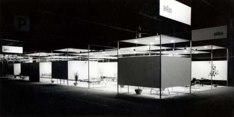 Exhibition stand for the Braun company at the Düsseldorf Radio Fair