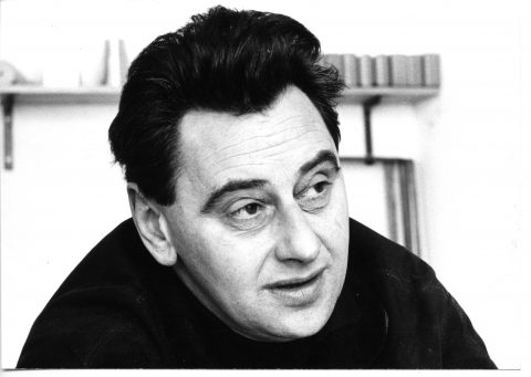 Hans Gugelot in der HfG, 1962. Foto Wolfgang Siol, © HfG-Archiv-Museum Ulm