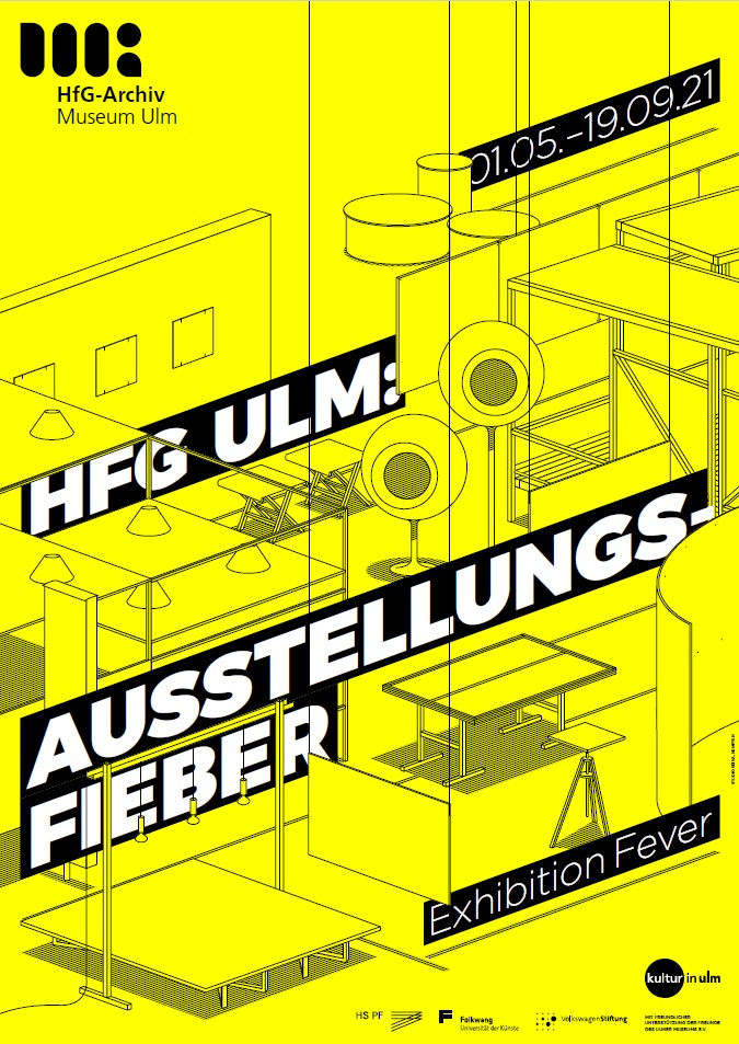 "Poster for the exhibition ""Exhinbition Fever"", May to September 2021, HfG Archive Ulm. Design: Florian Karrer"