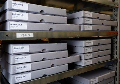 HfG-Archiv 2021, Diplomarbeiten. Foto: Sylvia Morlock, © HfG-Archiv